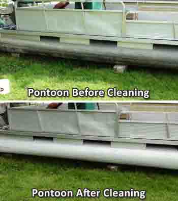 Cleaning Pontoons