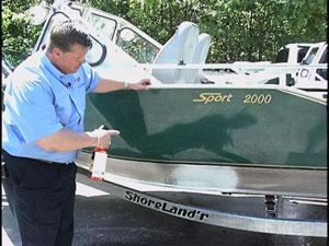 Aluminum Boat Cleaned
