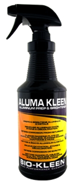 Aluma Kleen - Aluminum Cleaner aluminum cleaner, bio-kleen aluma kleen, aluminum auto rim cleaner, aluminium detail cleaner, diamond plate cleaner, metal oxidation cleaner, aluminum trailer cleaner