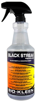 Black Streak Remover black streak remover, remove black streaks, rv black streak removal, motorhome black streak removal, boat black streak remover, biodegradeable cleaner, pwc cleaner, boat detailing cleaner, rv detailing cleaner