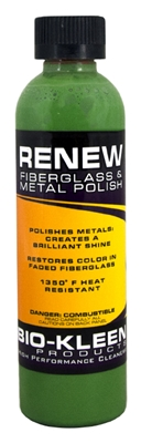 Renew - Metal Polish polishing metals, metal polish, bio-kleen renew, running board cleaners, brass cleaner, diamond plate cleaner, diamond plate polish, brass polish, aluminum polish
