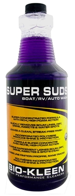 Super Suds - Boat RV Wash Boat Wash, RV Wash, Liquid Wash, Bio-Kleen Super Suds, bio-degradable boat wash, eco friendly boat wash, eco friendly boat soap, biodegradable boat soap, eco friendly boat cleaner, biodegradable boat cleaner, biodegradable rv wash, eco friendly rv soap, eco friendly rv wash, biodegradable car wash, biodegradable auto soap, auto soap, high performance boat wash, high performance rv wash, high performance auto wash, biodegradable liquid rv wash, car wash, boat wash